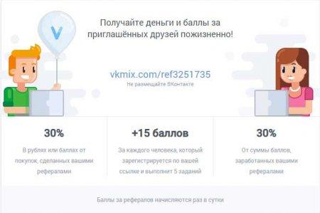 VkMix - балы за приглашенных друзей