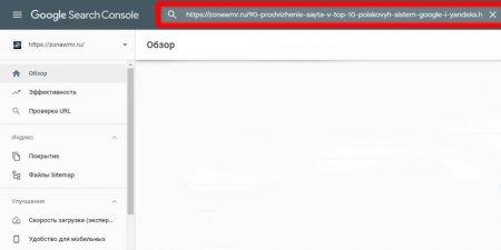 Проверка url в Google Webmaster