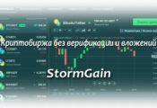 Криптобиржа StormGain — полный обзор сайта, про облачный майнинг и как пополнить счета