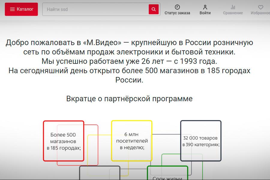 Mvideo партнерская программа интернете магазина электроники